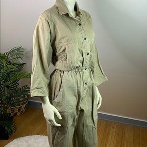 Vintage Khaki Dreams Denim Jumpsuit Coveralls L